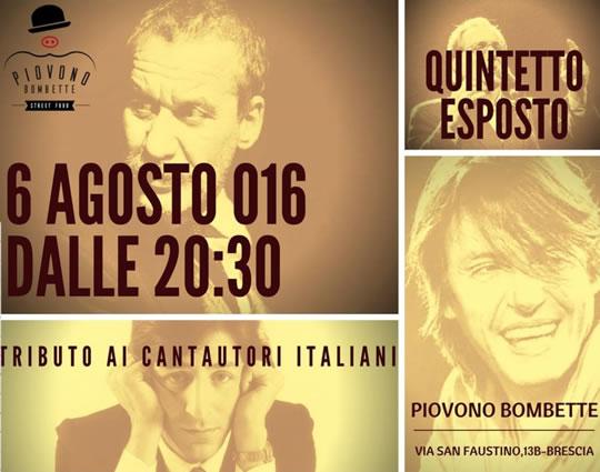 Tributo ai Cantautori Italiani a Brescia