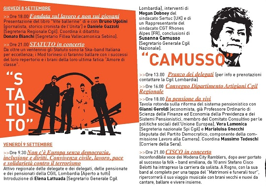 Festa Cgil Vallecamonica