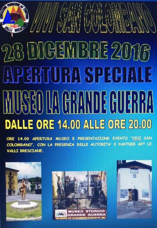 Apertura Speciale Museo La Grande Guerra