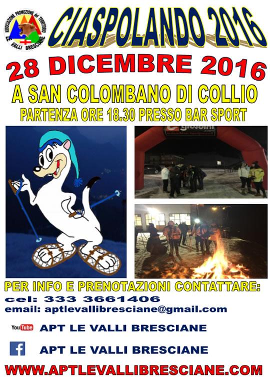 Ciaspolando 2016 a San Colombano di Collio