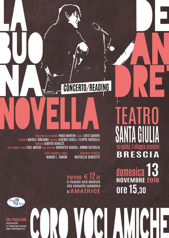 Concerto Reading La Buona Novella di F. de Andrè al Vill Prealpino
