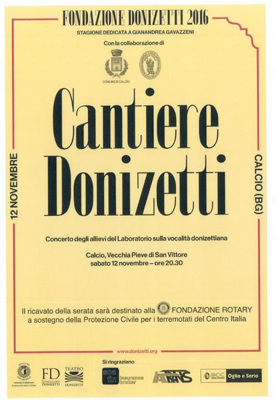 Concerto d'apertura Festival lirico dedicato a Gaetano Donizetti, a Calcio (BG)