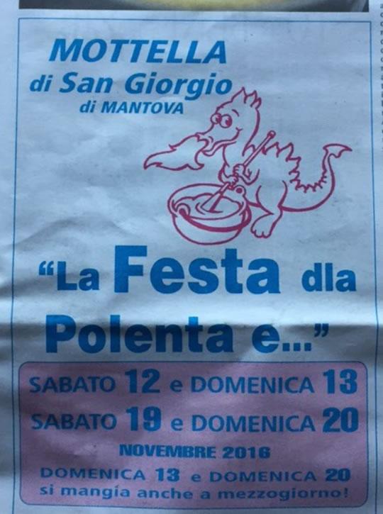 La Festa della Polenta e a San Giorgio della Mottella MN