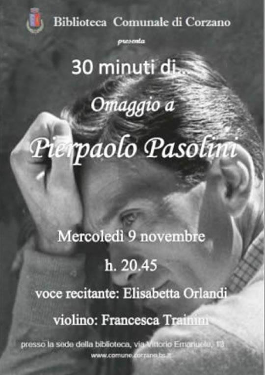 Omaggio a Pierpaolo Pasolini a Corzano