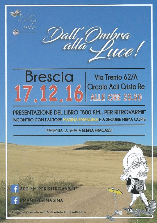 Presentazione Libro 800 Km per ritrovarmi a Brescia