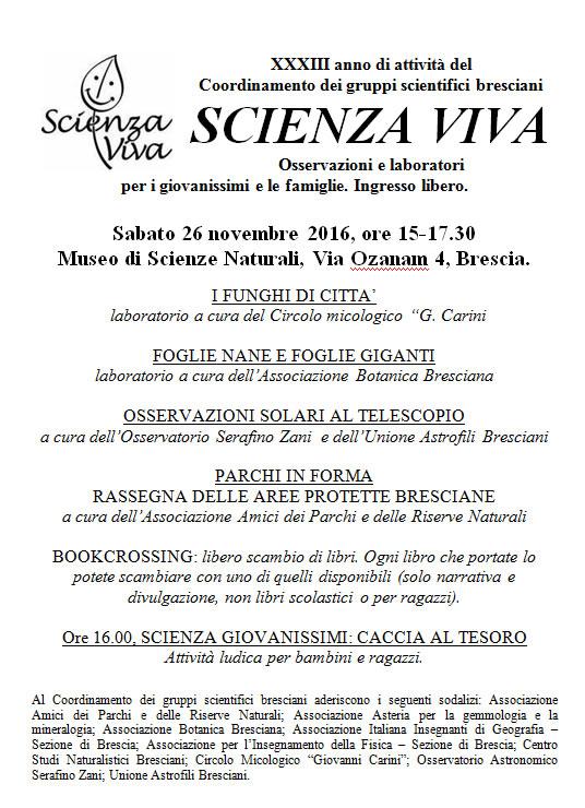 Scienza Viva a Brescia