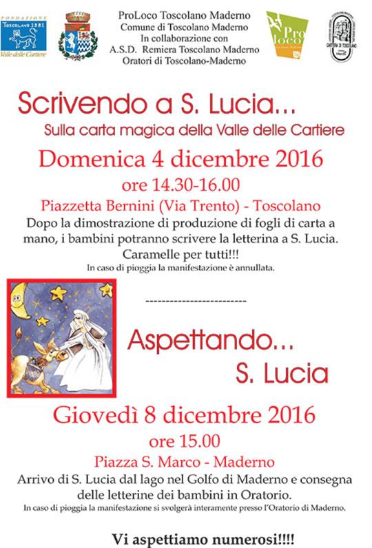 Scrivendo a S. Lucia a Toscolano Maderno Scrivendo a S. Lucia a Toscolano Maderno