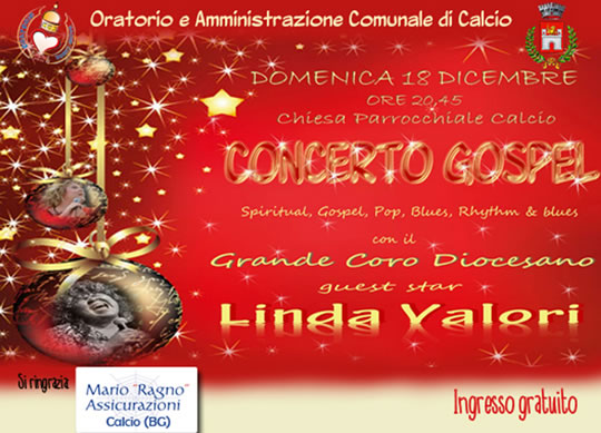 Concerto Gospel con Linda Valori a Calcio (BG)