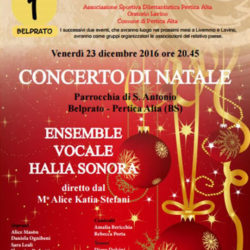 Concerto di Natale a Belprato di Pertica Alta