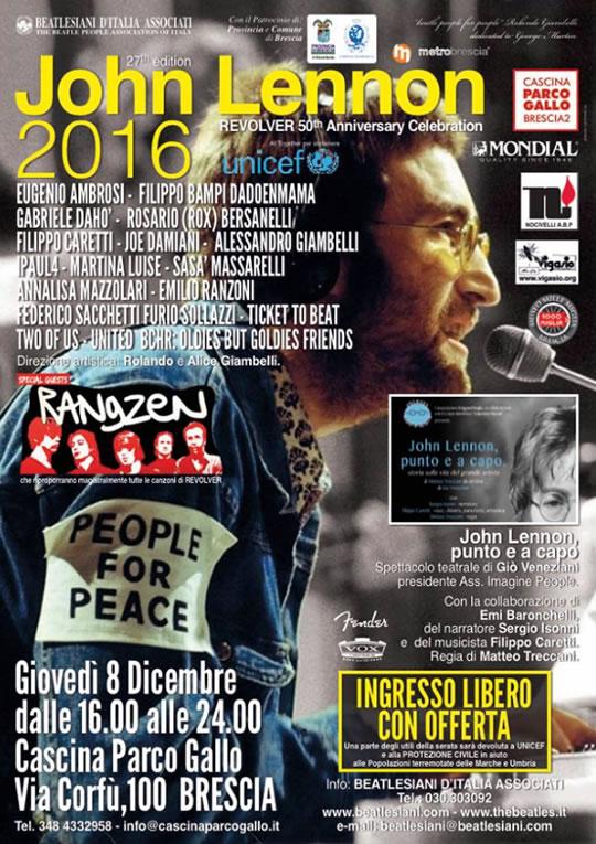John Lennon Revolver 50 Anniversary Celebration a Brescia