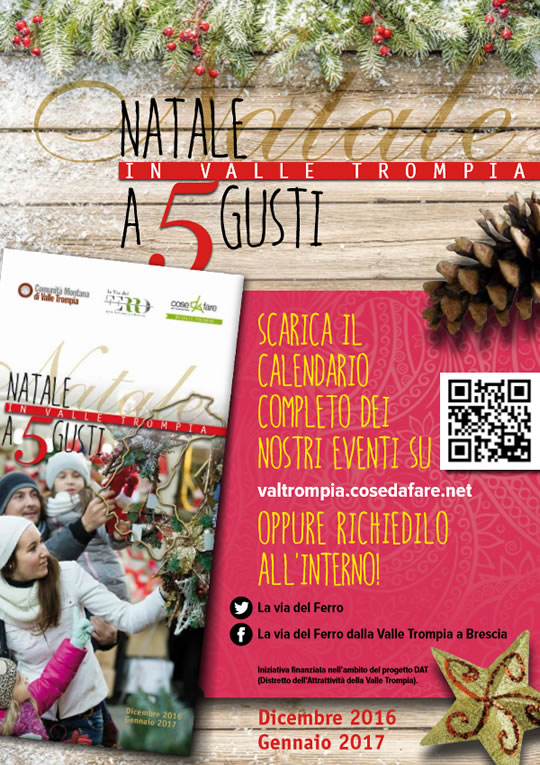 Natale a 5 Gusti in Valle Trompia