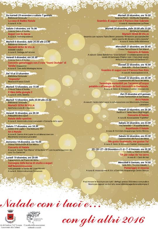 Natale con i Tuoi e con gli Altri a Gardone Val Trompia