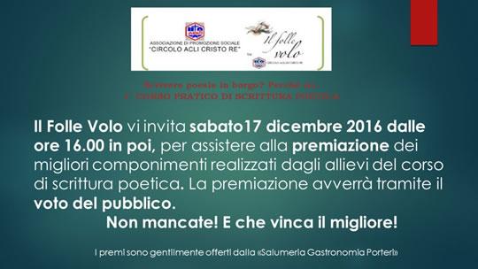 Premiazioni del Corso Scrittura Poetica a Brescia