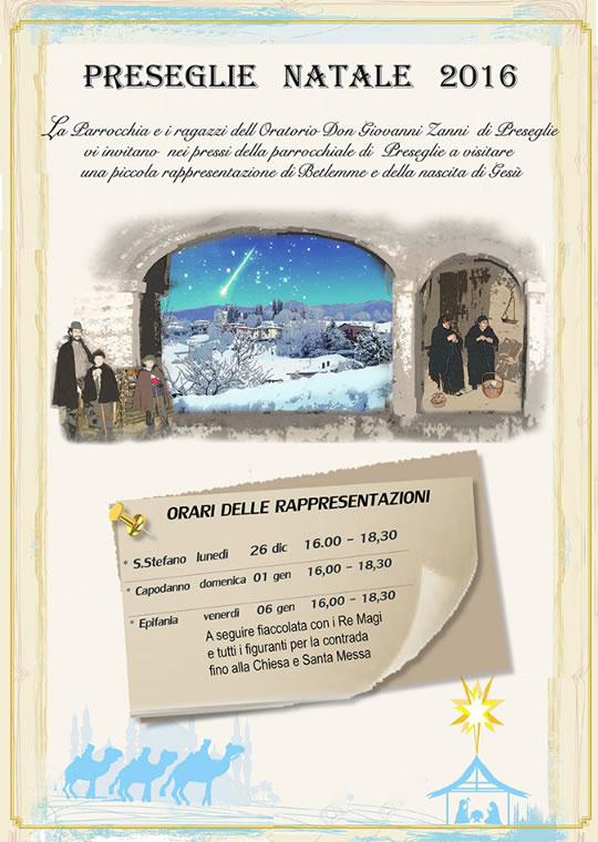 Preseglie Natale 2016