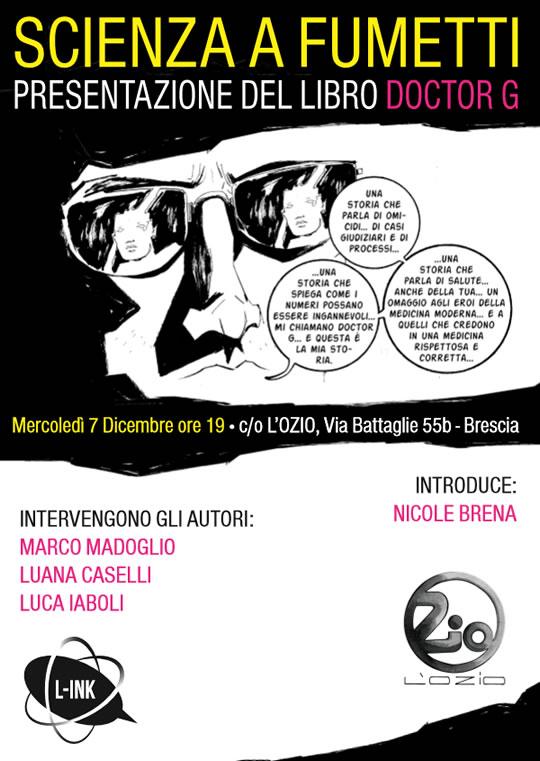 Presentazione graphic novel Doctor G a Brescia
