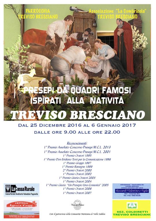Presepi da Quadri Famosi, Ispirati alla Natività a Treviso Bresciano