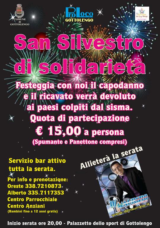 San Silvestro di Solidarietà a Gottolengo