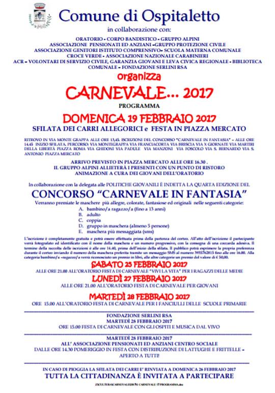Carnevale 2017 a Ospitaletto