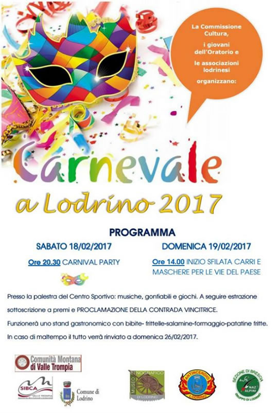 Carnevale a Lodrino 2017