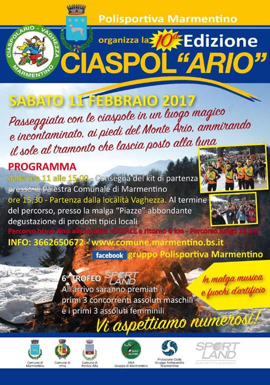 Ciaspolario 2017 a Marmentino