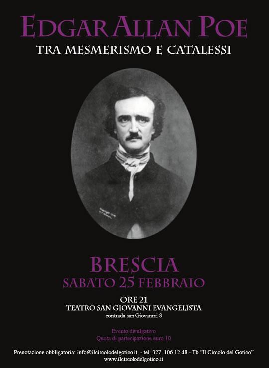 Edgar Allan Poe tra mesmerismo e catalessi a Brescia