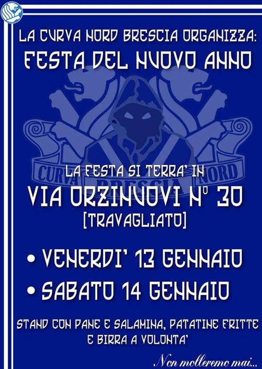 Festa del Nuovo Anno Curva Nord Brescia