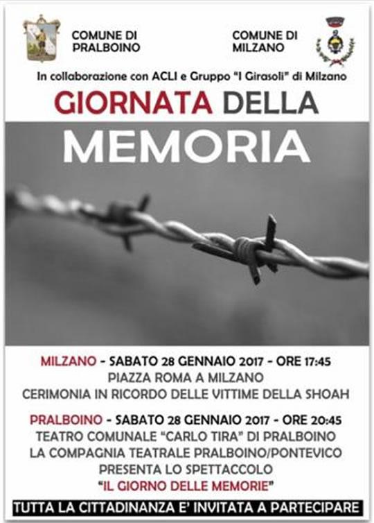 Giornata della Memoria Pralboino
