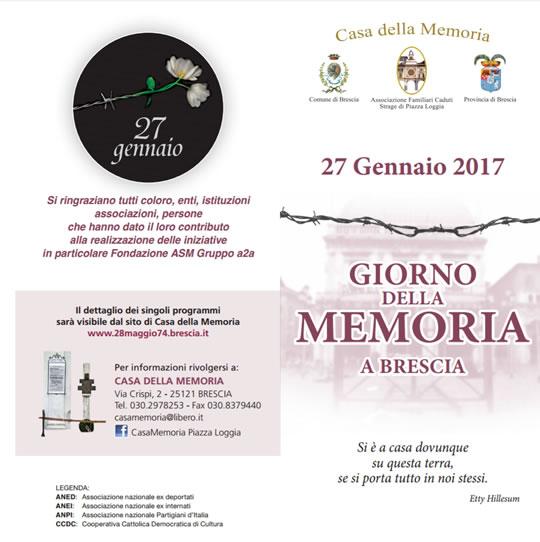 Giorno della Memoria a Brescia e Provincia