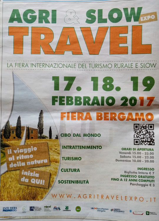 Agri & Slow Expo Travel a Bergamo