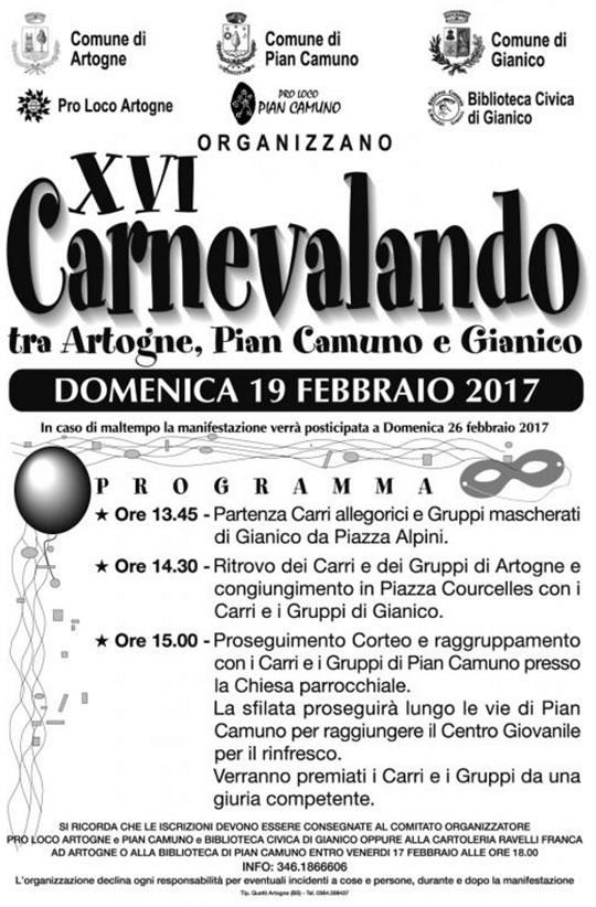 Carnevalando tra Artogne, Gianico e Pian Camuno