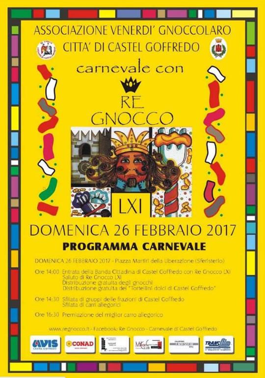 Carnevale con Re Gnocco a Castel Goffredo MN