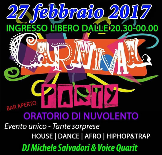 Carnival Party a Nuvolento