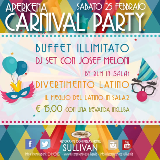 Carnival Party in Pizzeria