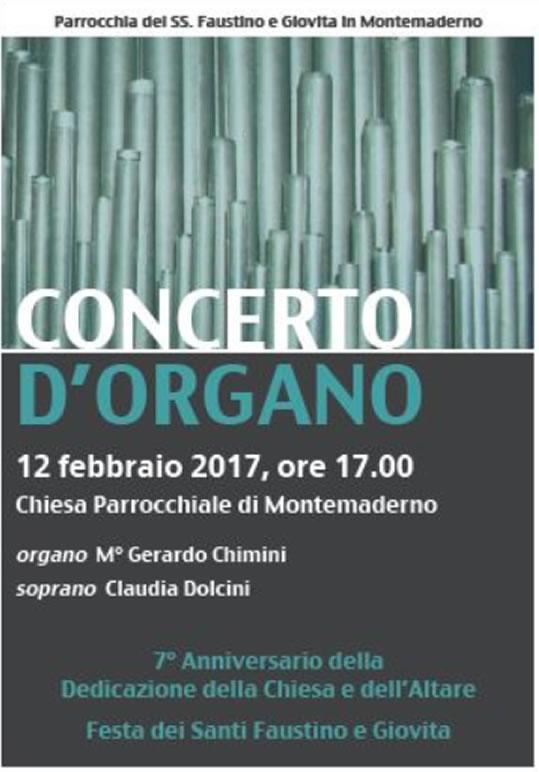 Concerto d'Organo a Montemaderno