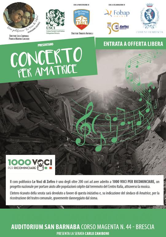 Concerto per Amatrice a Brescia