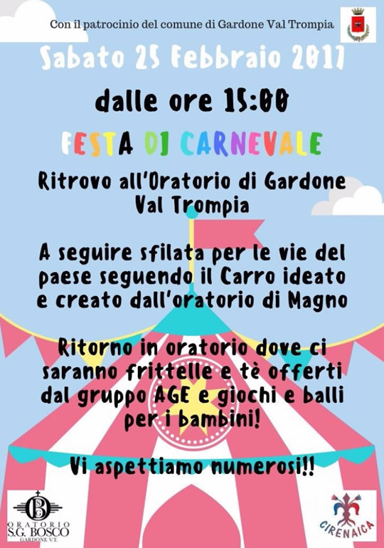 Festa di Carnevale a Gardone Val Trompia