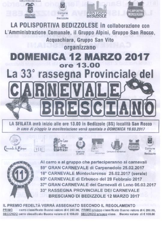 33 Carnevale Bresciano a Bedizzole