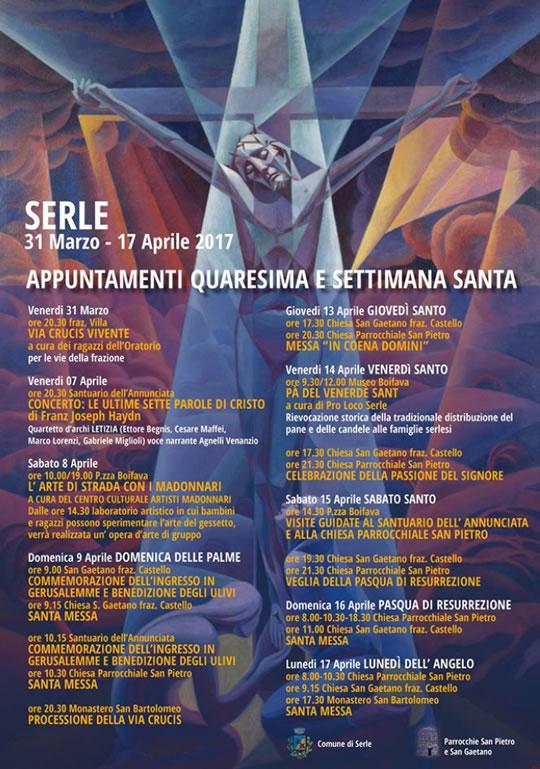 Appuntamenti Quaresima e Settimana Santa a Serle