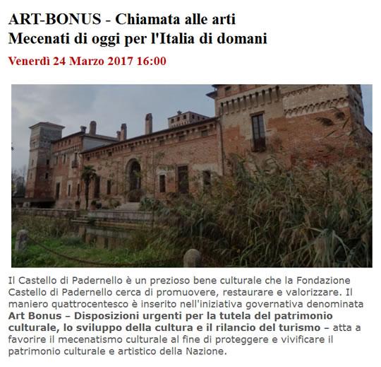 Art Bonus a Padernello