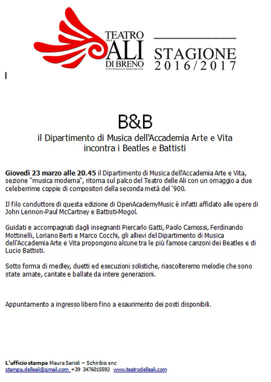 Beatles e Battisti a Breno