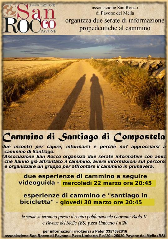Cammino di Santiago di Compostela a Pavone del Mella