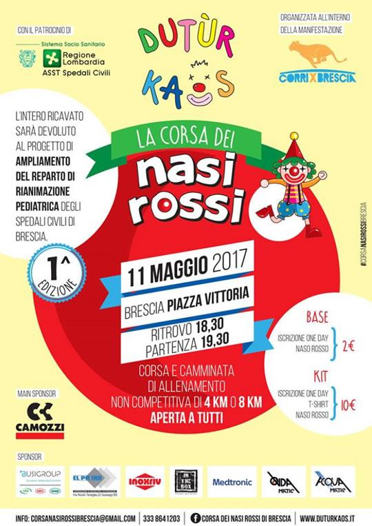 La Corsa dei Nasi Rossi a Brescia