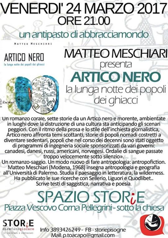Matteo Meschiari presenta Artico Nero a Pisogne