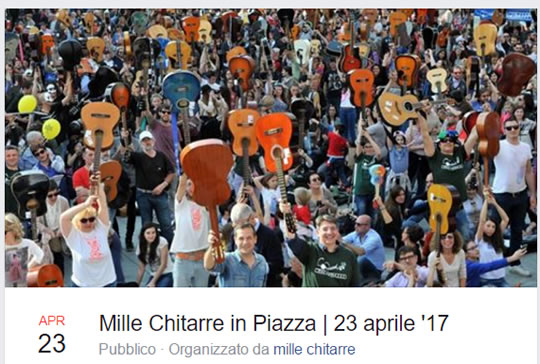 Millle Chitarre in Piazza 2017 a Brescia