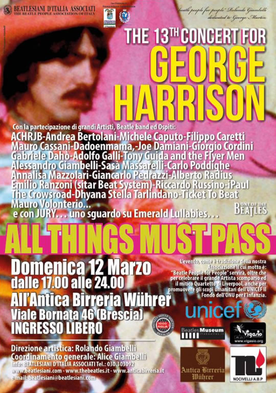 The 13 Concert for George Harrison a Brescia