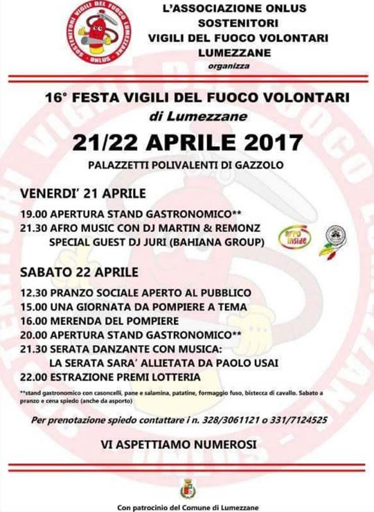 16° festa sostenitori vigili del fuoco Lumezzane