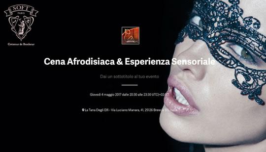 Cena Afrodisiaca & Esperienza Sensoriale a Brescia