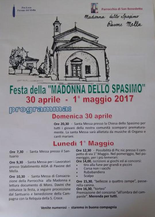 Festa della Madonna dello Spasimo a Pavone Mella