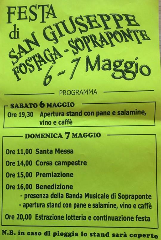 Festa di San Giuseppe a Fostaga Sopraponte