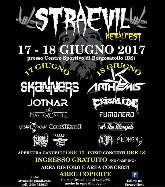 Straevil Metalfest a Borgosatollo